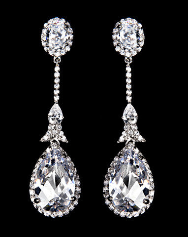 Bridal earrings - Alexandra by Stephanie Browne - Kezani Jewellery - 1