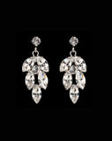 Bridal earrings - Bocheron rhodium plate by Stephanie Browne - Kezani Jewellery - 2