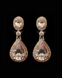 Bridal earrings - Bond St in rose gold by Stephanie Browne - Kezani Jewellery - 1
