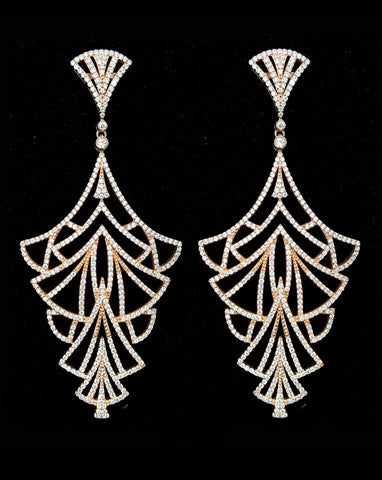 wedding-earrings-statement-empire-stephanie-browne-at-kezani - in rose gold