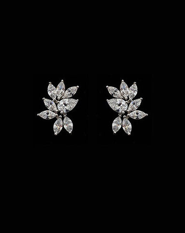 Bridal earrings - Twilight crystal studs by Stephanie Browne - KEZANI JEWELLERY - designer bridal jewellery and wedding accessories