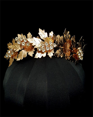 wedding headband - Golden Ivy on Alice by Stephanie Browne - Kezani Jewellery - 1