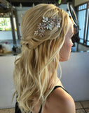 wedding headpiece - pretty Bohemian side comb - Pippa by Kezani 3