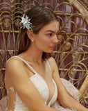 NEW ARRIVAL - bridal headpiece - porcelain floral comb - Millie - Johnny B Collection at Kezani