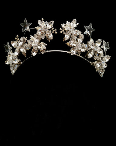 bridal headpiece - Star crystal crown - constellation theme - We are the Stars -by Kezani