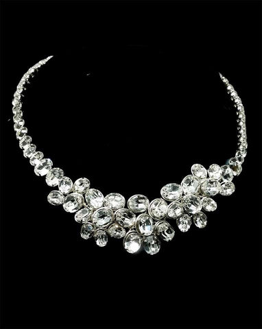 Wedding necklaces - dazzling oval crystal statement - Sofia by Kezani - Kezani Jewellery