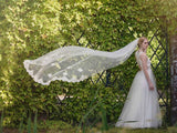 wedding veil -Lunaria -lace edge and motifs - train length - at Kezani Jewellery Perth Australia3