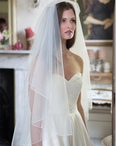 Wedding Veil - one tier waterfall veil - Perfect - Kezani Jewellery