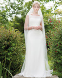 wedding veil - moonshine train length with lace motifs - Kezani Jewellery perth australia