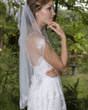 wedding and bridal veil -one tier - waist length - lace scatters - cosmos by Rainbow - at kezani Jewellery 2