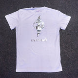 One of One - Metallic White Tee - Adult Large