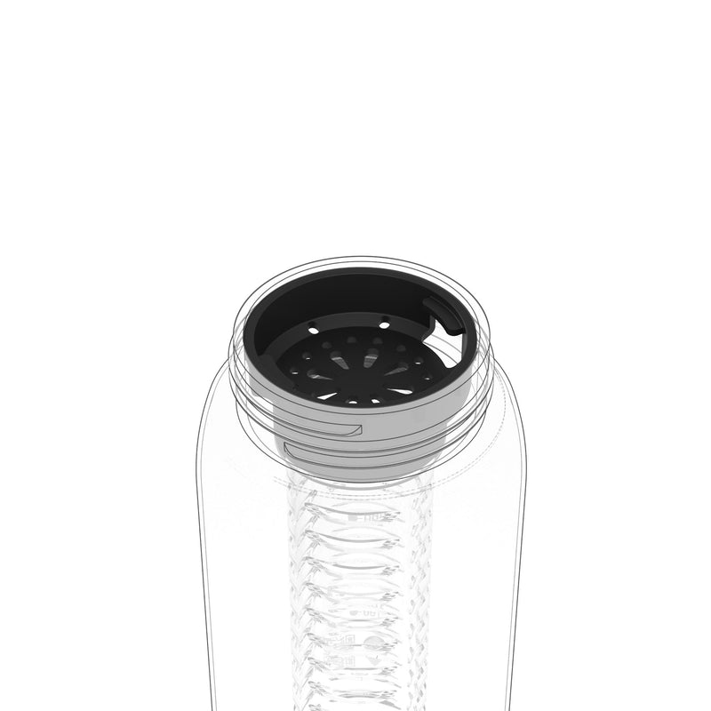 Ion8 Leak Proof Water Bottle Fruit Infuser Add-On, Black