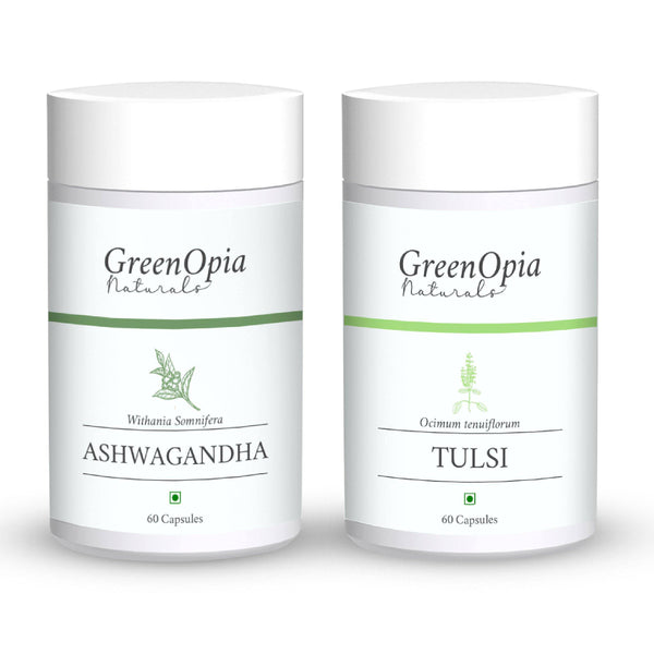 Ashwagandha and Tulsi Vegan Supplement - GreenOpia