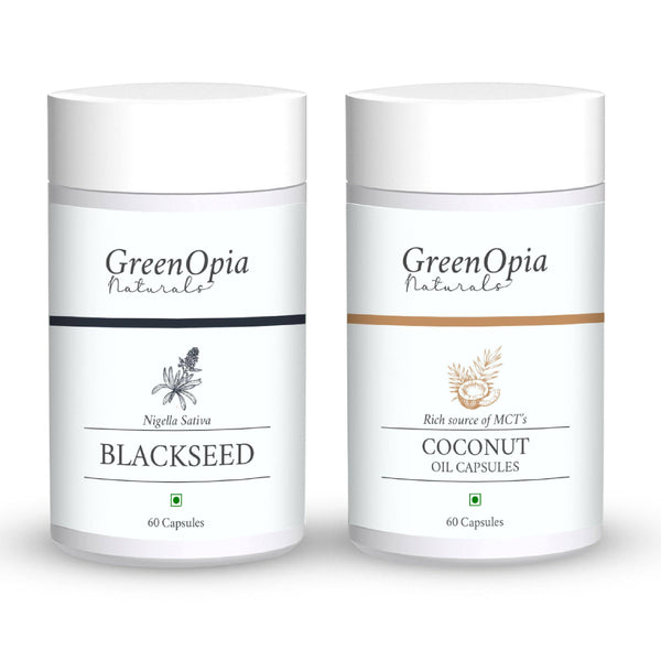 Black Seed Oil and Coconut Oil Vegan Supplement - GreenOpia