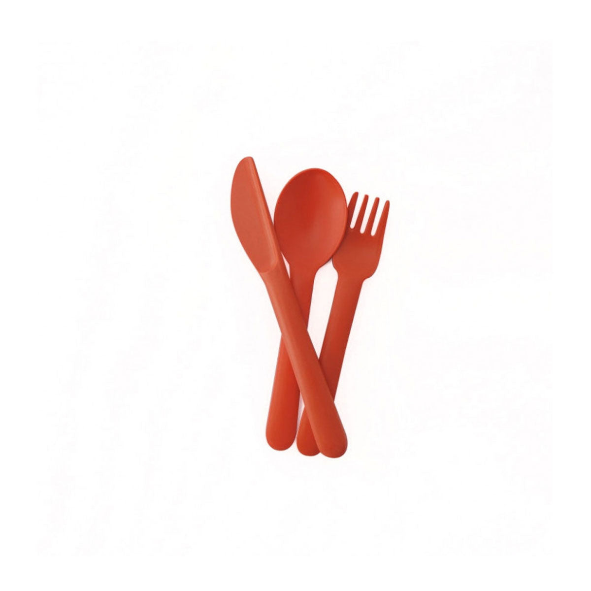 Ekobo : Bamboo Trio (Kid) Cutlery Set : Persimmon