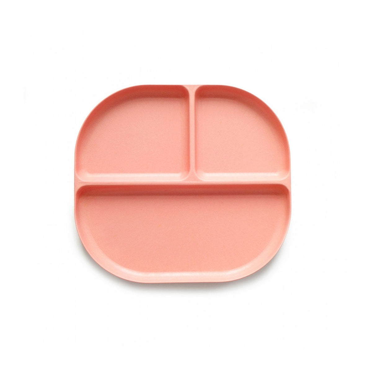 Ekobo : Bamboo Kid Divided Tray : Coral
