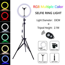 Load image into Gallery viewer, Dimmable LED Selfie Ring Light with Tripod