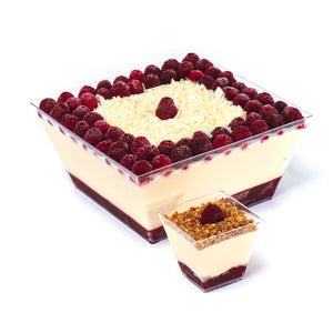 Postre de Chocolate Blanco Berries.