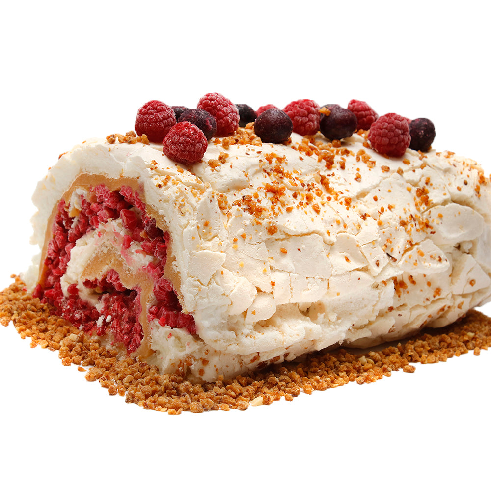Rollo de merengue frambuesa