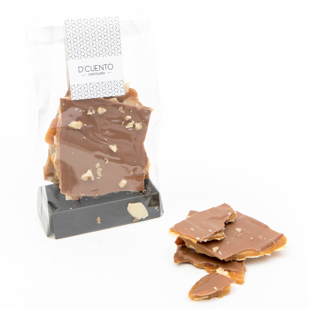 Tableta Toffee Crocante con Chocolate de Leche, 125g