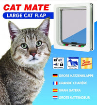 Cat Mate - Large Cat or Small Dog Flap White