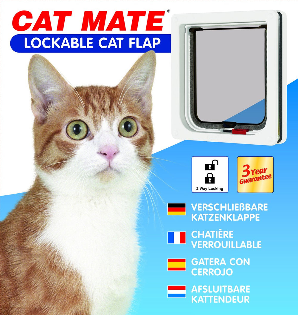 Cat Mate Lockable Cat Flap White