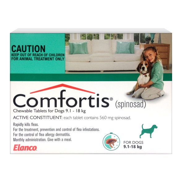 Comfortis Monthly Flea Prevention 9.1kg - 18kg