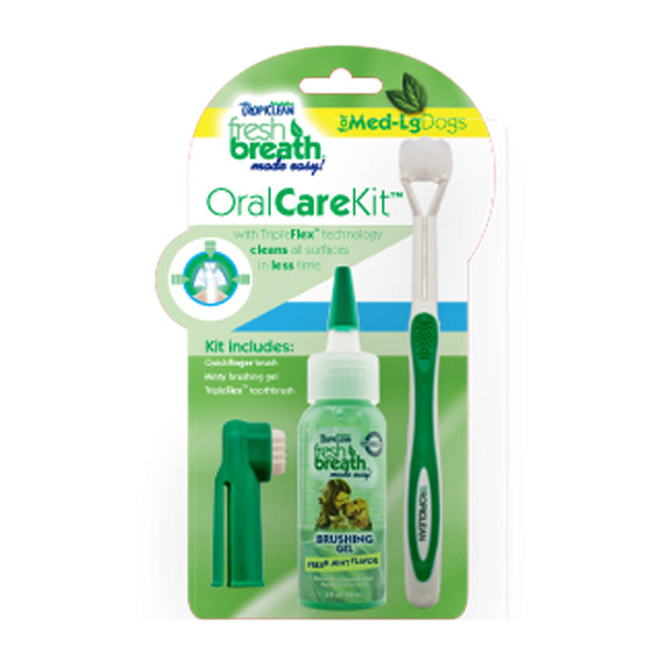 TropiClean - Fresh Breath - Brushing Gel Oral Care Kit
