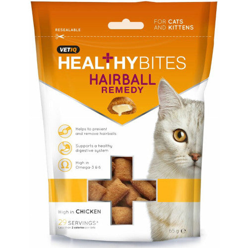 VETIQ - Healthy Bites - Hairball Remedy Cat Treats (65g)