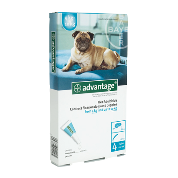 Advantage - Flea & Lice Treatment for Dogs (4kg - 10kg)