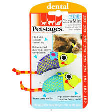 Petstages - Chew Mice Dental Toy for Cats
