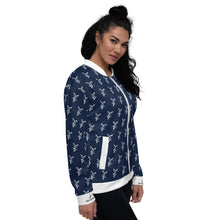 Load image into Gallery viewer, Navy Bomber Jacket