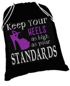 High Standards shoe sack - pleaser shoe bag