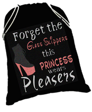 Load image into Gallery viewer, Princess Shoes shoe sack - pleaser shoe bag