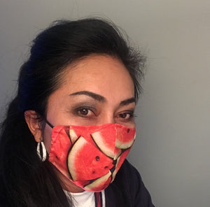 Watermelon reversible, reusable, washable, breathable mask