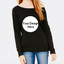 Load image into Gallery viewer, Custom Design Long Sleeve off the shoulder tee