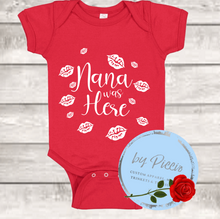 Load image into Gallery viewer, Grandma/Nana/ Mimi/Nonna Grandpa/Gramps/Pops/Nonno was here onesie & tshirt