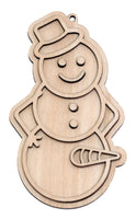 """Happy Snowman"" Naughty Ornament - Bucktooth Designs"