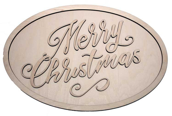 Merry christmas 1 - oval package