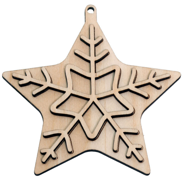 """Star"" Ornament - Bucktooth Designs"