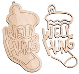 """Well Hung"" Naughty Ornament - Bucktooth Designs"