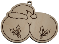 Naughty Christmas Ornament - The Girls and Holly - Bucktooth Designs