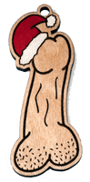 Naughty Christmas Ornament - Penis with Santa Hat - Bucktooth Designs