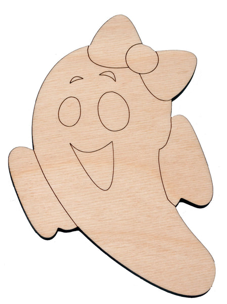 Girl Ghost shape 2 - Bucktooth Designs