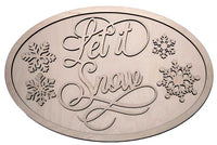 Let it snow with snow flakes - oval package