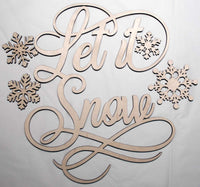 Let it Snow with Snow flakes - Bucktooth Designs