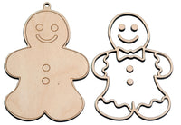 """Gingerbread Man"" Ornament - Bucktooth Designs"