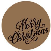 Merry Christmas Round and word Package - Bucktooth Designs