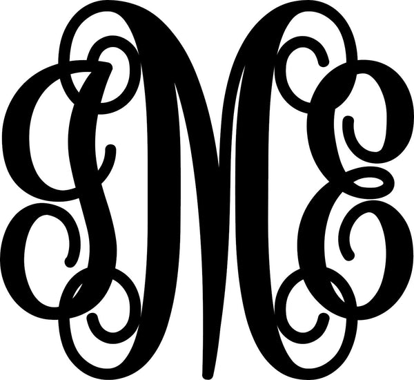 3 Letter Monogram - Bucktooth Designs