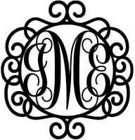 Monogram frame 1 - Bucktooth Designs